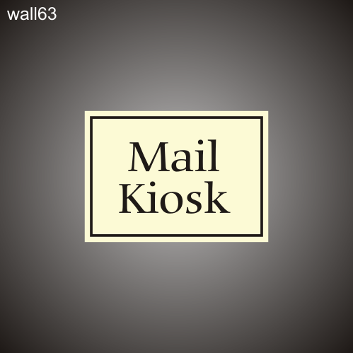 Mail Kiosk ID 12in x 18in