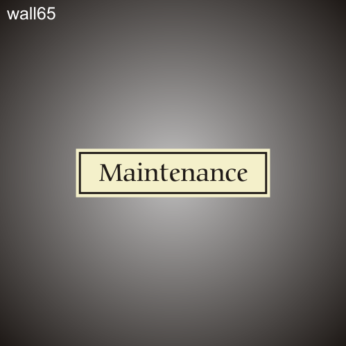 Maintenance 3in x 12in