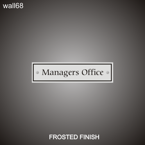 Managers Office 3in x 12in