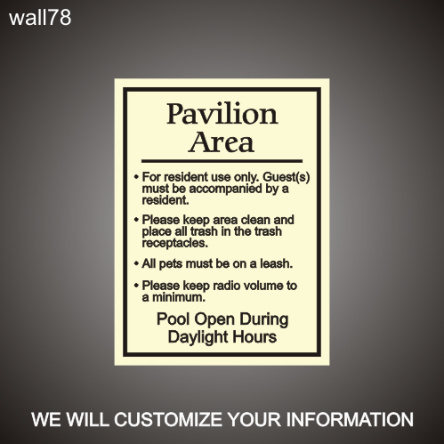 Pavilion Area Rules 18in x 24in