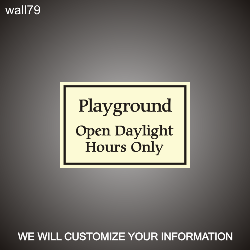 Playground Hours 12in x 18in