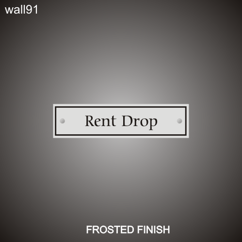 Rent Drop 3in x 12in