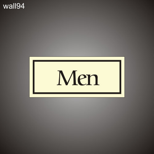 Restroom Men 3in x 7in