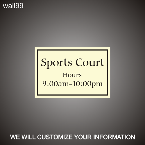 Sports Court 12in x 18in